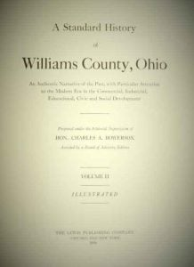 A Standard History of Williams County Ohio, Vol 2, Title Page